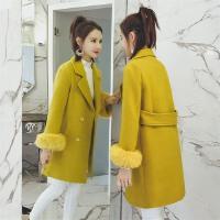 欧洲站宽松chic呢子妮子大衣女18春装新款韩版中长款毛呢外套潮