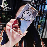 韩国镜面笑脸vivoy67手机壳 女款Y67L保护套硅胶挂绳创意卡通潮男