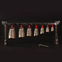 青铜器仿古编钟摆件古乐器编钟西安旅游工艺品婚庆影视道具礼物 单层 | 编钟