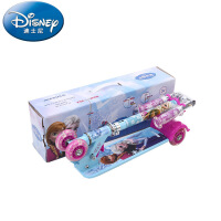 迪士尼 冰雪儿童迷你儿童滑板车四轮全闪可调节踏板车