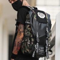 迷彩帆布双肩背包男女学院风书包电脑包运动时尚潮流大容量旅行包 支持礼品卡支付