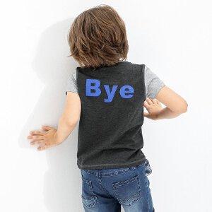 【尾品汇 5折直降】amii童装2017夏季男童绣花短袖中大童撞色休闲简约儿童T恤夏装