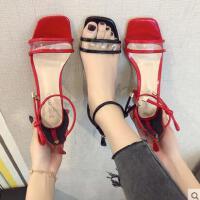 户外新品网红同款凉鞋女ins潮仙女风学生超火百搭时尚搭配裙的鞋