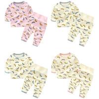 婴儿套装女宝宝6个月新生儿春秋季睡衣家居服