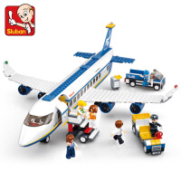 玩具拼插塑料模型积木拼装积木空中巴士飞机男孩