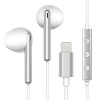 T3 苹果7耳机iPhone7plus/8/i7p/X/X/XR/MAX 手机耳机入耳式扁头5s/ 极光银 (ligh