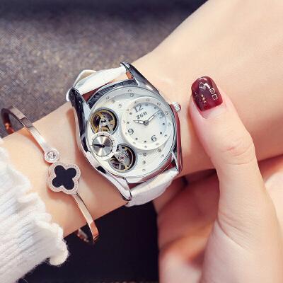 送女友女士韩版手表女自动机械表时尚防水女生腕表 品质保证 售后无忧 支持*付款