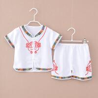 儿童汉服短袖夏季套装中式服装中国风改良古装男童宝宝唐装