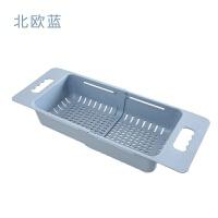 可伸缩洗菜盆淘菜盆沥水篮长方形塑料水果盘家用厨房水槽洗碗收纳