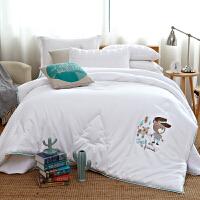 家纺2017秋冬款棉被子全棉卡通儿童被子双人加厚保暖冬季被床上用品 200X230cm 7.5斤