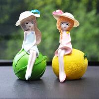 车内饰品摆件卡通公仔 小车上汽车用品玩偶可爱漂亮女装饰品