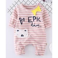 婴儿衣服春秋爬爬服长袖连体衣男女宝宝春装0-6个月新生儿外出服
