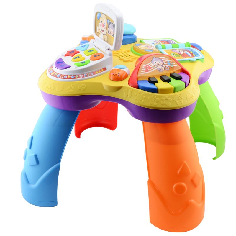 [当当自营]Fisher Price 费雪 小狗皮皮学习桌 双语 婴儿玩具 BJV34【当当自营】适合6个月以上婴幼儿 欢乐学习 4种游戏模式 完整互动式学习中心