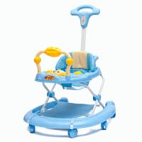 婴儿童宝宝学步车多功能手推可坐带音乐助步车
