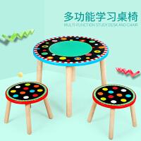 吃饭手工写字游戏幼儿园小学生玩具桌儿童实木小桌子宝宝椅子学习