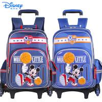 Disney迪士尼儿童小学生书包三轮可爬楼配送防雨罩拉杆书包MB0561