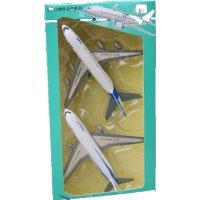 合金飞机模型 A380 航模波音777 回力儿童玩具 礼盒装波音777 + A380