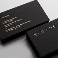名片制作设计凹凸印刷名片高档定制烫金500克黑卡纸名片SN7841