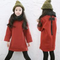 韩国童装冬装2017新款亲子装母女韩版女童加绒连衣裙中大童卫衣裙