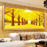 客厅2米大幅图风景印花十字绣画黄金满地全景十字绣线绣系列