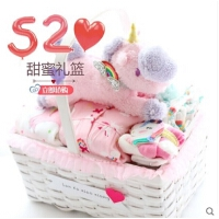 新生儿礼盒公主范婴儿衣服套装礼盒初生新生儿用品纯棉