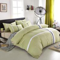 家纺床上用品纯棉四件套 1.5m1.8m床双人全棉男士简约四件套 2.0床被套220*240 床单245*265合适