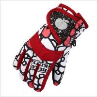 儿童滑雪手套防水防雪加厚保暖五指男童女童玩雪手套加绒冬季手套SN8893