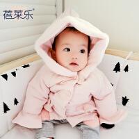 婴儿女宝宝衣服冬季3个月1新生儿上衣加厚保暖外套