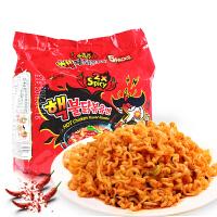 韩国进口三养双倍辣核弹火鸡面140g*5 超辣方便面网红拌面包邮