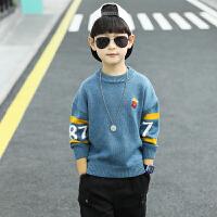 男童毛衣套头大儿童秋冬款男孩加绒针织打底衫线衣