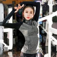 大码运动外套胖mm200斤跑步健身衣女装秋装遮肉速干衣瑜伽服XE