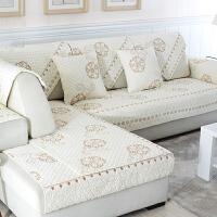 全棉沙发垫布艺冬季现代简约防滑纯棉坐垫子四季通用皮沙发巾套罩