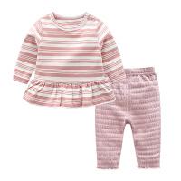 婴儿衣服3个月8冬季女宝宝上衣儿童洋气裤子春秋装