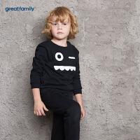 歌瑞家童装男童套头卫衣2017冬装中大童男宝宝长袖上衣