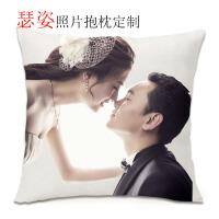 照片抱枕头定制来图定做真人可印不同双面情侣自定义diy礼物靠垫