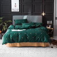 北欧全棉纯棉家纺床上四件套床单被罩1.8m床轻奢风1.5米床上用品