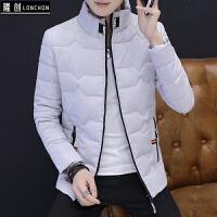 冬装男外套加厚韩版修身轻薄服男冬季学生短款衣服