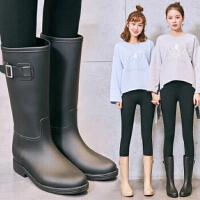 春夏秋韩版时尚女雨靴雨鞋高筒雨鞋套鞋防滑防水胶鞋水鞋