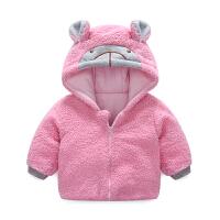 婴儿衣服冬季女童外套3个月男宝宝加厚保暖秋冬装