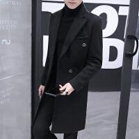 冬装风衣外套男士中长款韩版修身毛呢大衣潮流发型师冬天呢子衣服