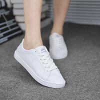 回力女鞋秋季新款运动休闲小白鞋皮面百搭款学生潮流韩版纯色鞋子