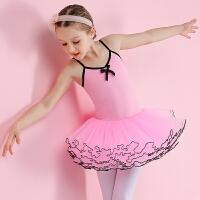 儿童舞蹈服夏季小女孩芭蕾舞蹈服装女童短袖练功服幼儿跳舞演出服