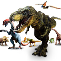 大号霸王龙仿真动物模型男孩儿童玩具3-6周岁7侏罗纪恐龙玩具套装