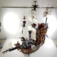 兼容乐高加勒比海盗船黑珍珠安妮女王玛丽号帝国战舰拼装积木