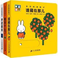 米菲的滑板书系列全3册绘本0-3岁幼儿书籍 撕不烂米菲绘本认知洞洞书 婴儿童启蒙认知玩具书宝宝书籍 0-3岁 早教 启
