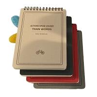 日韩文具 B5上翻线圈本螺旋笔记本记事本子横格 日记本厚,上翻本纸张数量125张
