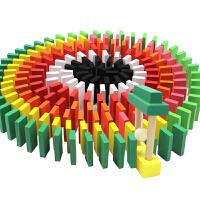 多米诺骨牌儿童标准比赛500块1000片木制机关益智力积木玩具