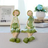 20180702042311886创意欧式现代田园家具房间装饰品结婚礼物吊脚娃娃情侣人物小摆件
