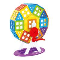 儿童积木玩具 磁力片拼接积木玩具套装男孩儿童礼盒装生日礼物 102PCS(颜色随机)