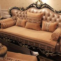 欧式沙发垫四季通用防滑坐垫布艺美式真皮沙发套全包罩